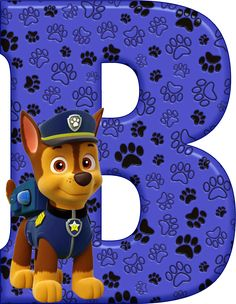 *✿**✿*B*✿**✿*DE ALFABETO DECORATIVO Paw Patrol Rescue, Paw Patrol Party, Paw Patrol Birthday, Dog Themed Parties, 1st Birthday Parties, 4th Birthday, Alfabeto Animal, Festa Pj Masks, Cumple Paw Patrol