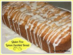 Mama's #GlutenFree Lemon Zucchini Bread will certainly bring a smile to your face. #Dairy Free