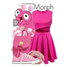 Morph by Disney Bound: I wouldn't really wear this, I just think it's cool that someone made one for Morph, and its so quirky and cute. Disney Princess Outfits, Disney Themed Outfits, Disney Bound Outfits, Disney Dresses, Disney Clothes, Nerd Fashion, Fandom Fashion, Casual Cosplay, Cosplay Outfits