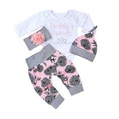 4Pcs Baby Girls Clothes Set Daddy's Princess Romper Tops+... https://www.amazon.com/dp/B076WX1VR3/ref=cm_sw_r_pi_dp_U_x_PkjuAb5BHJP5X
