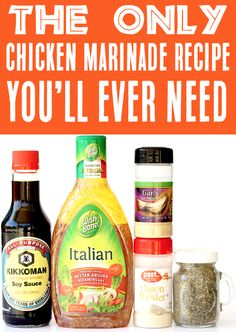 Italian Marinade For Chicken, Chicken Marinade Recipes, Marinade Sauce, Chicken Marinades, Grilling Recipes, Cooking Recipes, Homemade Marinades For Chicken, Healthy Grilling, Soy Sauce