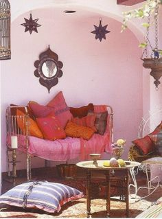 Pink and orange morocan style