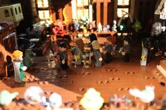 Defense against the dark arts, Lego model of Hogwarts by Alice Finch. Via Flickr