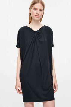 f3ccde20eeb1b Dress with draped neckline Neckline