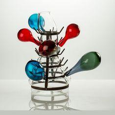 Ron Arad (né en 1951) The Bottle Racket Vase Verre et métal Signé et daté « Venini 2014 R. Arad PDA » Date de création : 2014 H 62 cm Prototype - Pièce unique