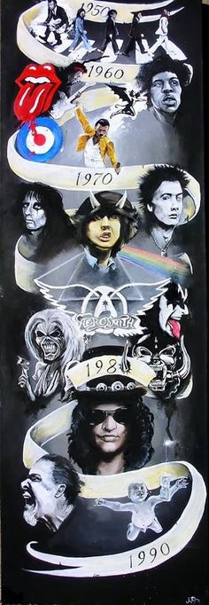 Only good bands/artists on there are Guns N' Roses and Aerosmith but I mean, y'know. Rock Posters, Concert Posters, Band Poster, Poster Art, Rock And Roll, Pop Rock, Freddie Mercury, Concert Rock, Rock Y Metal