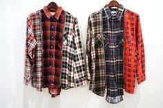 REBUILD BY NEEDLES SHIRTS FOR FW2012 – UPCYCLING VINTAGE FLANNEL