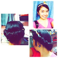Princess Roll Hairstyle! ❤️ #hairstyle #lace #princess
