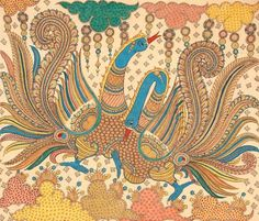 Indian Painting Styles...Kalamkari Paintings (Andhra Pradesh)-peacock1-16-.jpg