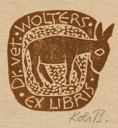 Art-exlibris.net - exlibris by Kobi Baumgartner for Vet Wolters
