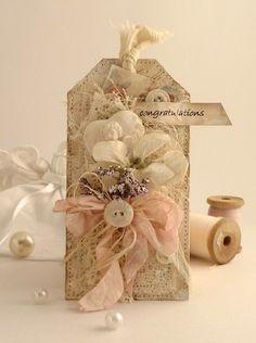 Shabby n Chic Tag Vintage Tags, Card Tags, Gift Tags, Shabby Chic Cards, Handmade Tags, Paper Tags, Christmas Tag, Tag Art, Filofax