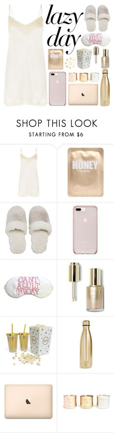 """Sleep In: Lazy Day"" by a-hidden-secret ❤ liked on Polyvore featuring La Perla, Lapcos, Natori, Stila, S'well and Tom Dixon"