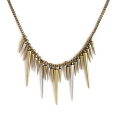 Collar con puas - Spike necklace - Makedoonia