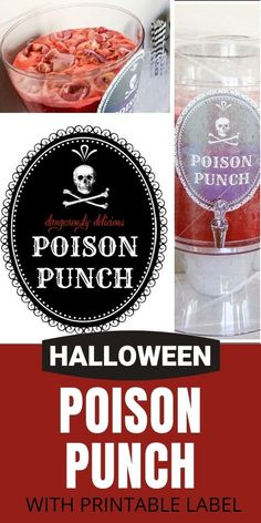 Non-Alcoholic Poison Punch for a Halloween Celebration | Tonya Staab Diy Halloween Food, Halloween Party, Thanksgiving Decorations, Halloween Decorations, Printable Labels, Printables, Halloween Celebration, Non Alcoholic, Fall Pumpkins