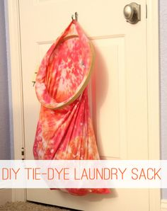 Kid DIY Tie-Dye Laundry Sack at lifeyourway.net by Kristina Buskirk