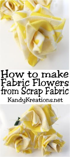 Can't find the flowers you need in your party colors? Make your own fabric flowers in a few easy steps out of scrap fabric you already have at home. These fabric roses are great as Beauty and the Beast roses, Bachlorette partyroses, or as the yellow ros