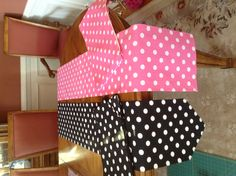 Table runners for Minnie Mouse party