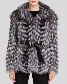 Maximilian Feathered Fox Fur Belted Jacket - Bloomingdale's Exclusive | Bloomingdale's