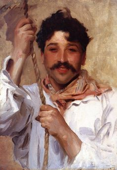 The Athenaeum - Italian with a Rope (John Singer Sargent - ) 1900