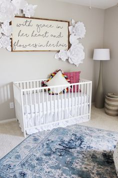 A little girl's bedroom with Rugs USA's Beaumont Medallion VI22 Rug!