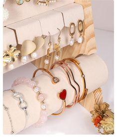 Organizador de joyas exhibición de joyas soporte de perno de | Etsy Jewellery Display, Jewelry Organization, Stud Earrings, Etsy, Trending Outfits, Unique Jewelry, Handmade Gifts, Vintage, Wood Display
