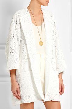 Chloé Guipure lace cocoon coat NET-A-PORTER.COM
