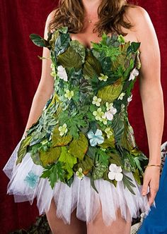 Adult Ladies Woodland Flower Forest Fairy by WoodlandFairyCorsety --- would be PERFECT for my bell sleeve dress I just made!