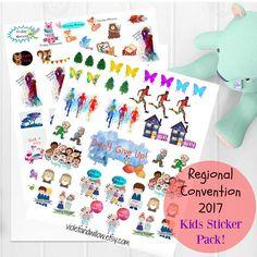 JW Kids 2017 Regional Convention Printable Sticker Pack