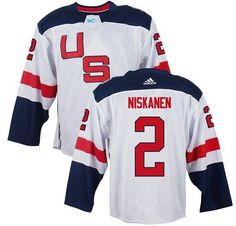 Team USA #2 Matt Niskanen White 2016 World Cup Stitched NHL Jersey