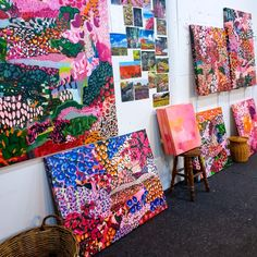 So much colour and joy spilling put from my studio. Abstract Art, Gift Wrapping, Joy, Colour, Quilts, Blanket, Studio, Artist, Gift Wrapping Paper