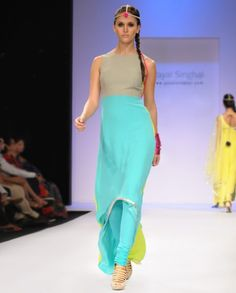 Fresh Blue and Grey Suit- Payal Singhal