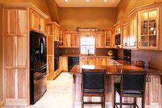 Amish Hickory Natural Finish Gallery. Hickory Kitchen CabinetsCustom Kitchen  CabinetsBath ...