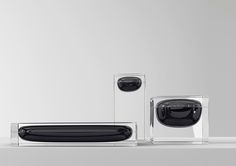 Luxury Towers, design by Studio Juju for Industry+. Set of acrylic containers to hold precious objects, trinklets, and jewellery. Id Design, Glass Design, Acrylic Containers, Human Centered Design, Bench Furniture, Bottle Design, Home Decor Kitchen, Industrial Design, Decorative Accessories