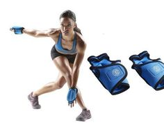 Gold's Gym gloves Weights of 3 lb Adjustable Pair Arm Wrist body workouts yoga #GoldsGym
