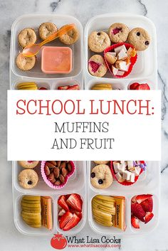 Make school lunch packing super easy with pancake muffins from the freezer. From WhatLisacooks.com