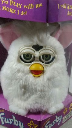 vintage new in box white Furby blue eyes 1999 | Toys & Hobbies, Electronic, Battery & Wind-Up, Electronic & Interactive | eBay!