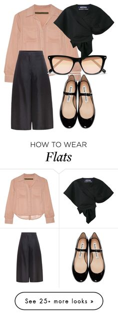 """""""blush blouse"""" by glasspaperscizzors on Polyvore featuring Enza Costa, Valentino, Elizabeth and James, Acne Studios and Jacquemus"""