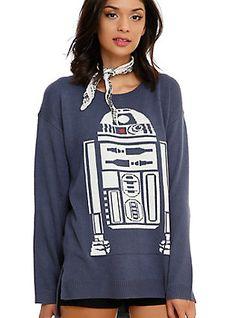 Star Wars R2-D2 Girls Sweater, BLACK