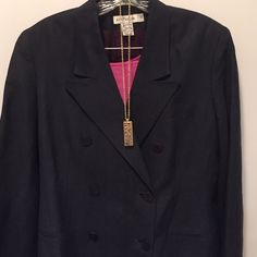 "Ann Taylor Jacket Worn one time in brand new condition. Extra buttons inside. Shoulders down is 29""  under the arms is 17"" sleeves are 24"" Ann Taylor Tops"