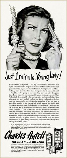 No need to commit suicide over your bad hair, 1952