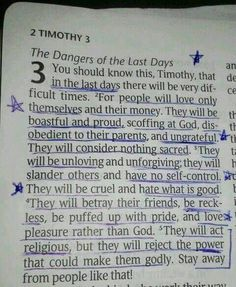 2 TIMOTHY Written before its time. And we still question. God please open all eyes to see you and FAITH in you to resist the devil. The final day of eternal peace is near. Biblical Quotes, Bible Verses Quotes, Bible Scriptures, Spiritual Quotes, Faith Quotes, Religious Quotes, Life Verses, Faith Scripture, Spiritual Messages