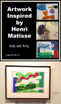 """Paper Cut-out Artwork Inspired by Matisse - Henri Matisse was branded one of the young """"fauves,"""" or wild beasts, for his daring use of color.  Increasingly unable to paint as he grew older, Matisse worked with assistants to create large-scale paper cut-outs in his trademark vivid hues. What was initially a coping mechanism, and widely dismissed  by critics, became one of Matisse's most important means of artistic expression."""