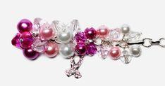 Pink ribbon bracelet - Facet Jewelry Making Diy Jewelry Projects, Diy Projects, Metal Working, Ribbon, Jewelry Making, Beaded Bracelets, Pearls, Crystals, Pink