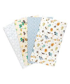 Love this Jungle Friends Flannel Burp Cloth Set by Trend Lab on #zulily! #zulilyfinds