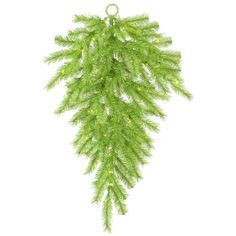 36' Pre-Lit Green Tinsel Fir Artificial Christmas Teardrop *** Click on the image for additional details.