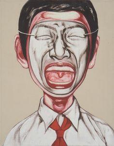 1996 MASK SERIES-21, 3-1 -- Zeng Fanzhi (曾梵志; b1964, Wuhan, Hubei Province, China; based in Beijing)