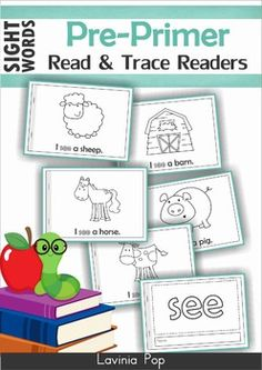 Sight Word Read and Trace Readers (Pre-Primer Words)  ****UPDATED AUGUST 2014****  The paper-saving flip book version is available here!  Need more Pre-Primer readers? Check out the BUNDLE here!  About this book: This unit contains 40 pre-primer sight words booklets intended to for use with children in Preschool and Kindergarten (Prep).