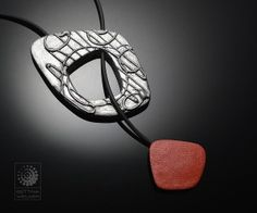 Clasp Necklace - Polymer clay necklace showing pendant clasp open- Bettina Welker Polymania 2016 Project