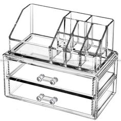 Clear Makeup Case Drawers Cosmetic Organizer Jewelry Storage Acrylic Cabinet Box in Health & Beauty, Makeup, Makeup Bags & Cases | eBay