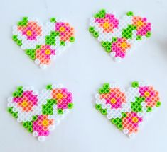 Heart perler magnets!